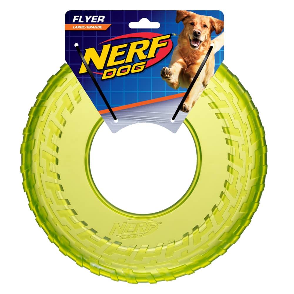 Nerf Dog Translucent Tire Flyer Nerf Dog Toys